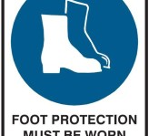 footwear safety sign